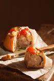 Fetta di torta in crosta di carne di maiale Fotografia Stock Libera da Diritti