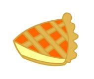 Fetta di torta dell'ostruzione arancione Fotografia Stock