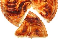 Fetta di torta della mela immagini stock libere da diritti
