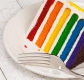 Fetta di torta di compleanno Immagine Stock Libera da Diritti