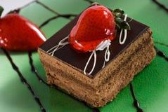 Fetta di torta tedesca della foresta nera Immagini Stock