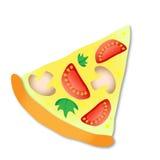 Fetta di vettore di pizza Immagine Stock