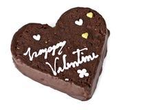 Fetta a forma di del cuore di brownie Fotografia Stock Libera da Diritti