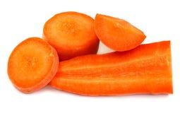 Fetta fresca della carota Fotografia Stock
