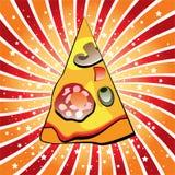 Fetta italiana della pizza Fotografie Stock Libere da Diritti