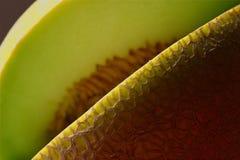 Fetta mancante del cantalupo Fotografie Stock