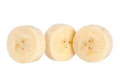 Fetta rotonda della banana Fotografia Stock Libera da Diritti