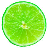 Fetta verde della frutta della calce Fotografia Stock Libera da Diritti
