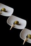 Fetta verde oliva immagine stock