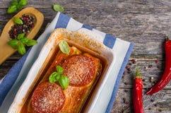 Fette al forno di verdure Immagini Stock