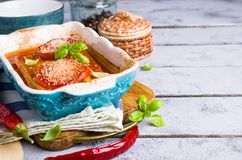 Fette al forno di verdure Immagini Stock Libere da Diritti