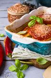 Fette al forno di verdure Immagine Stock