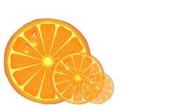 Fette arancio. Immagine Stock