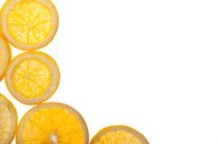 Fette arancio dell'agrume isolate Immagine Stock
