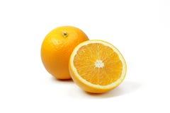 Fette arancio della frutta Fotografie Stock