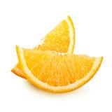 Fette arancio della frutta isolate. Fotografia Stock