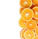 Fette arancio della frutta isolate Fotografie Stock Libere da Diritti