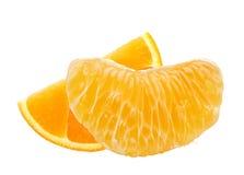 Fette arancio fresche isolate su bianco Fotografia Stock Libera da Diritti
