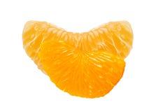 Fette arancio fresche isolate su bianco Fotografia Stock