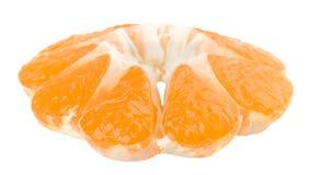 Fette arancio su fondo bianco Fotografie Stock Libere da Diritti
