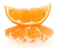 Fette arancio su fondo bianco Immagini Stock Libere da Diritti