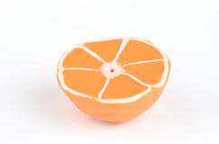 Fette arancioni di plasticine sugoso Fotografia Stock Libera da Diritti