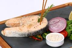 Fette arrostite della bistecca di color salmone Fotografia Stock Libera da Diritti