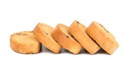 Fette biscottate con l'uva passa Immagine Stock
