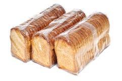Fette biscottate del pane immagini stock