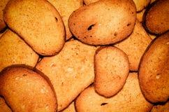 Fette biscottate del pane. Immagini Stock