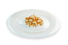 Fette biscottate su un piatto Fotografia Stock