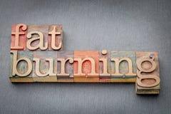 Fette brennende Wortzusammenfassung Stockbilder