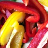 Fette bulgare succose fresche del pepe Immagine Stock