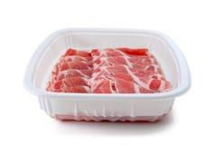 Fette crude del bacon Fotografia Stock Libera da Diritti