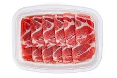 Fette crude del bacon Immagini Stock Libere da Diritti