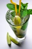 Fette del cocktail & della calce di Mojito Immagini Stock Libere da Diritti