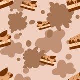 Fette del dolce di cioccolato Fotografia Stock Libera da Diritti