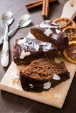Fette del dolce di cioccolato Immagini Stock Libere da Diritti