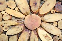 Fette del fondo di legno Fotografie Stock