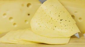 Fette del formaggio Fotografie Stock