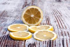 Fette del limone Fotografie Stock