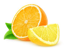 Fette del limone e dell'arancia Immagini Stock Libere da Diritti