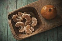 Fette del mandarino Fotografie Stock Libere da Diritti