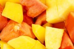 Fette del mango Fotografia Stock