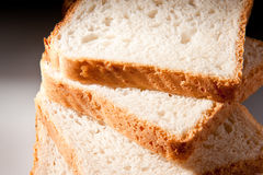 Fette del pane bianco Fotografia Stock Libera da Diritti