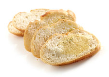 Fette del pane con il burro di erba immagine stock libera da diritti