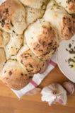 Fette del pane dell'erba e dell'aglio Fotografia Stock