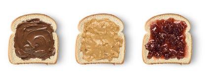 Fette del pane tostato Immagini Stock