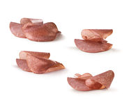Fette del salame Fotografia Stock