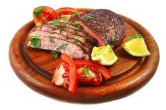 Fette della carne del manzo di arrosto Immagini Stock